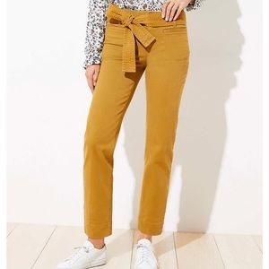 loft tie waist pants bronze brown
